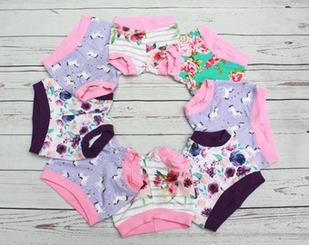 Girl's Bummies, READY TO SHIP Bummies, Girl Shorties, In Stock, Baby Bummies, Toddler Bummies, Cuff Shorts, Hipster, Play Shorts, Under