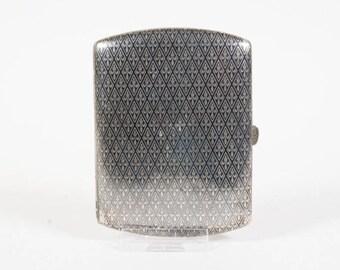 Rare 19th century German cigarette case, Niello Silver Cigarette Case, appr. 1890