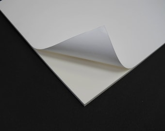 "2pcs 6mm sticky back EVA foam 11"" x 24"" in white color"
