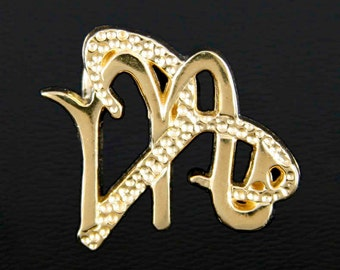 8 Aries and Scorpio Gold Unity Pendant
