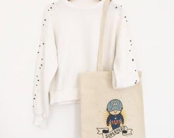 Cotton Shopping bags: Captain America