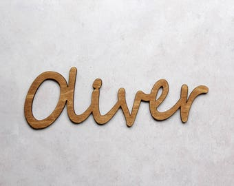 Personalised Children's Gift - Children's Name Sign in Simple Style - Door Sign - Baby Gift - Baby Shower - Kids Decor - Wooden Name Sign