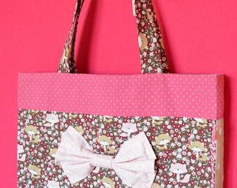 Tote bag, activity bag girl Fox theme.