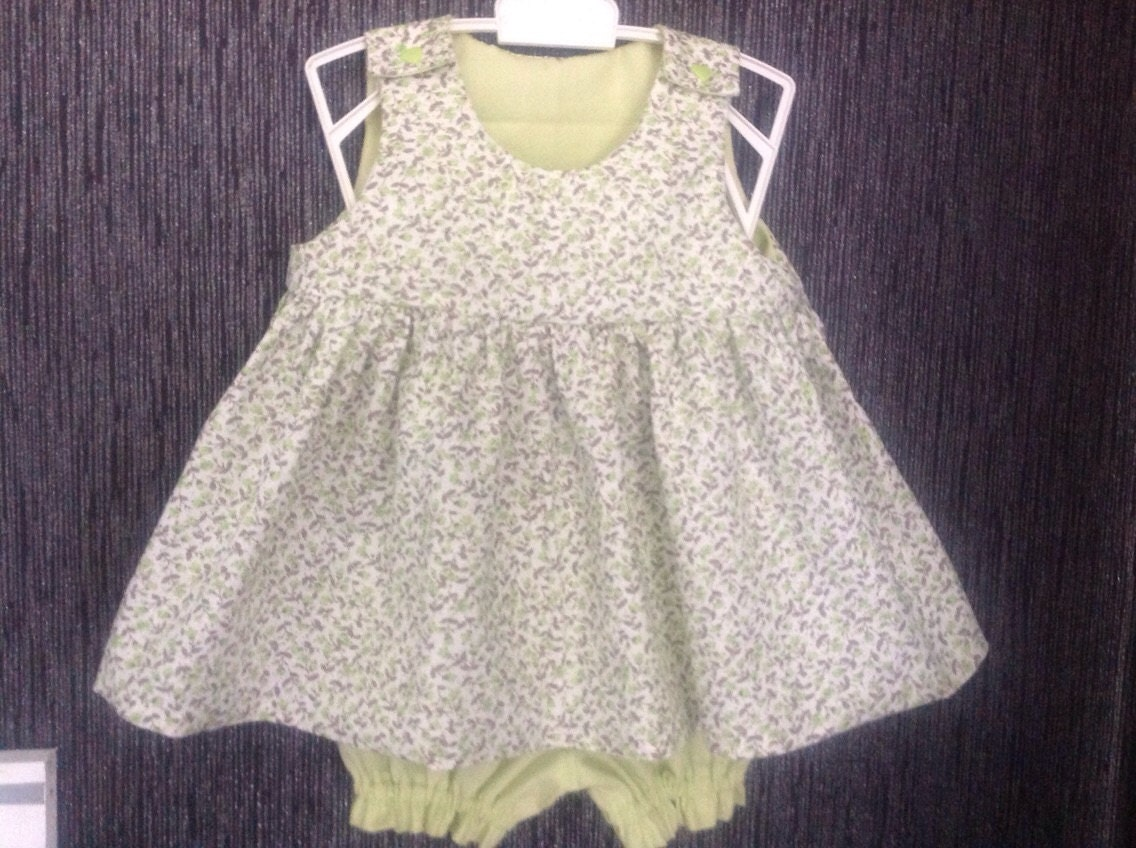 c18ae61dc Flower girl dress tone green and her panty