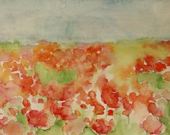 Summer Flowers in the Sun - Original Watercolor