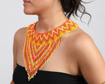 Aztec tribal necklace