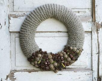 Natural Wreath -  Rustic Wreath - Thanksgiving Door Decor - Front Door Wreath - Housewarming Gift - Autumn Wreath - Fall Wreath