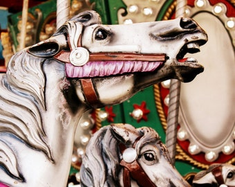 Fairground Photography - Carousel Horse Print - Funfair Art - Carnival Decor