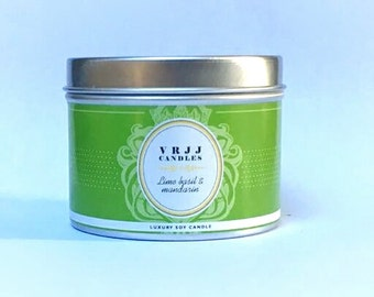 Lime, Mandarin & Basil – Scented Candle – Handmade Candle