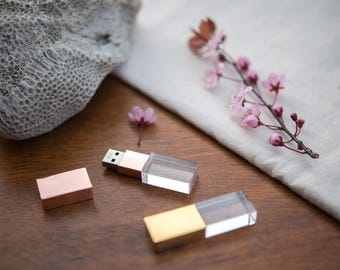 Crystal Glass USB Flash Drive