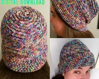 Crochet Pattern - Not Knit Hat - Crochet Beanie - Crochet Hat - Women's Hat - Hipster Beanie - Digital Download - Crochet Patterns - Beanie