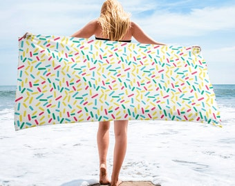 Rainbow Sprinkles Beach Towel