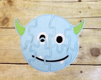 Monster Puzzle, Felt Jigsaw Puzzle, Preschool Toy, Quiet Time Activity, Educational, Homeschooling, Stocking Stuffer, Travel Toy, Classroom