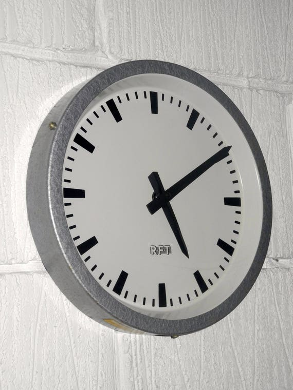 1960's East German Industrial Factory / Office Clocks By RFT