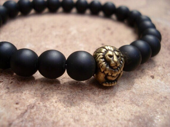 adventure bracelets for eye silver men bracelet black onyx beaded sterling tiger