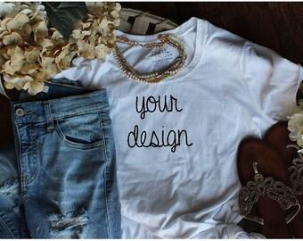 custom personlaized comfy casual t-shirt