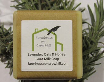 Lavender, Oats and Honey Goat Milk Soap