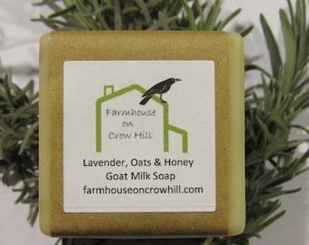 Lavender, Oats and HoneyGoat Milk Soap