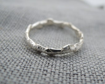 Simple Cedar Band Ring - Sterling Silver 925 - Made to Order