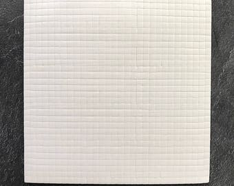 15 x 15 cm - 1 mm foam pre-cut with sticky pads for double sided 3D mounting