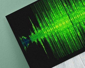 Fallin Sound Wave Art Inspired By Alicia Keys - 24x8 Inch Canvas, Poster or Digital Image - Free P&P