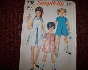 SIMPLICITY 7112 size 14 girls dress UNCUT
