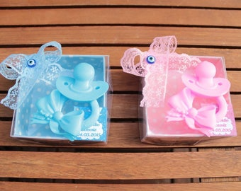 Baby shower favors soap Newborn favors baby boy baby girl favors  pacifier soap baby gift ideas  newborn gift  birthday baptism favors 20PC