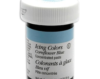 Wilton Cornflower Blue Icing Color - Gel Paste cake cookie cupcake icing frosting decorating - cornflower blue gel paste icing color