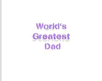 World's Greatest Dad Stencil