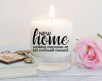 New Home Gift, Housewarming Gift, Personalised Gift, Scented Candle,  First Home Gift, Moving House, Personalised Candle, Moving In Together