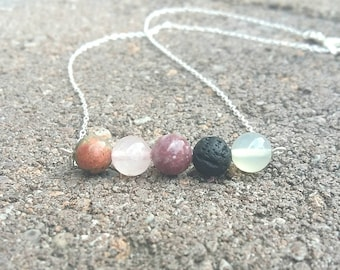 Fertility necklace- fertility aide- fertility gemstones- healing jewelry-  fertility gift- invitro- trying to concieve- diffuser necklace-