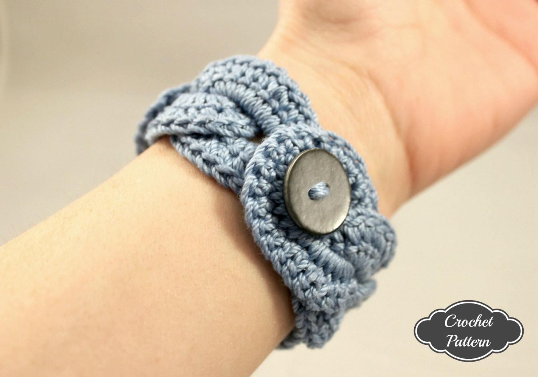 CROCHET PATTERN Crochet Bracelet Infinity Link Cuff Crochet