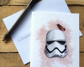 Stormtrooper Helmet Blank Notecards - Stormtrooper Blank Notecards - Star Wars Blank Notecards