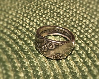 Handmade Spoon Ring from Vintage Silverware