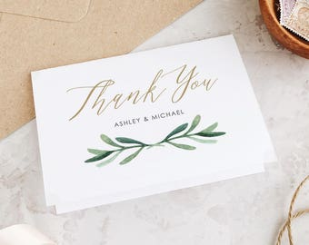 Wedding Thank You Cards Etsy NZ - 4x6 thank you card template