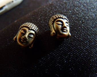 2 beautiful bronze Buddha beads
