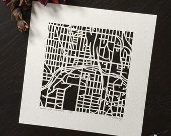 Kansas City hand cut Map ORIGINAL ART by the paper cutting artist, Karen M. O'Leary.