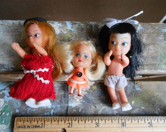 Collection of Tiny Dolls from the 1960's
