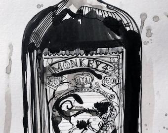 Monkey 47 - A4 - Original Artwork - UNFRAMED