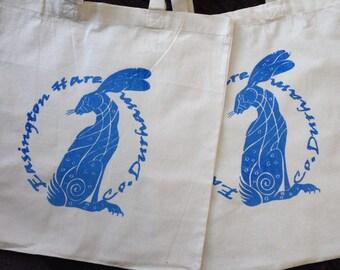 Easington Hare 100% Eco Cotton Canvas Shoulder Tote Shopper Bags