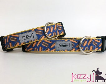 Blue Hot Dogs Summer BBQ Dog Collar