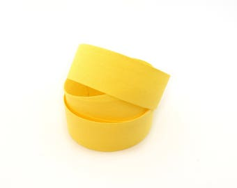 27 mm yellow cotton twill tape
