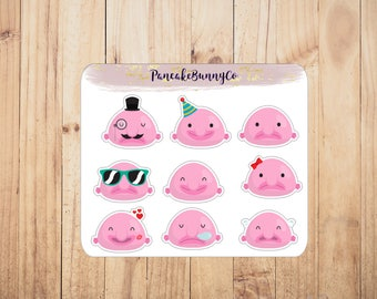 Blobfish stickers