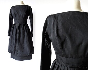 50s Party Dress | Bubble Skirt Dress | 1950s Silk Dress | Suzy Perette | XS S