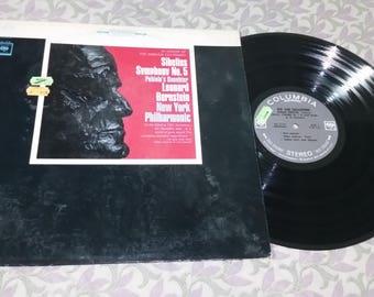 Sibelius. Symphony No. 5. Leonard Bernstein. Vinyl Record LP