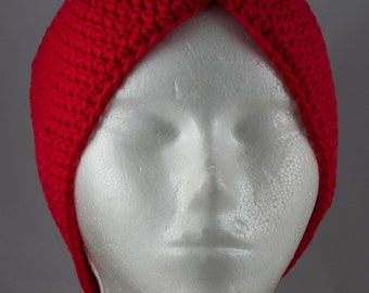 Red Turban Hat for Cancer Patients - Cancer Hat/Chemo Hat/Cancer Cap/Chemo Cap