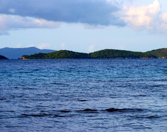 Travel Photography- St. Thomas Blues- U.S. Virgin Islands- Nature, Ocean, Beach, Caribbean, Summer, Fine Art Photography