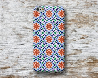 Moroccan tiles Phone Case for iPhone 4 4s 5 5s SE 5C 6 6S 7 8 PLUS X iPod Touch 5 6 Oneplus 2 3 5 1+2 1+3 1+5