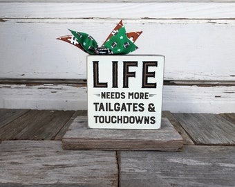 AG Designs Fall Decor - Football Tailgates Touchdowns