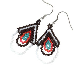 Desert Spirit Beaded Earrings - Dangle - Beaded Earrings - Surgical Steel